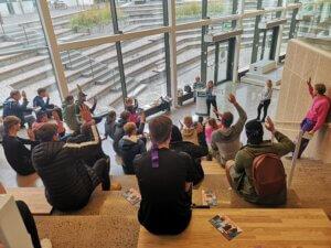 Deltagare i Linnécupens Fake News station